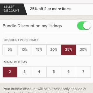 Other - 25 % off Bundle Discount of 2 or more items